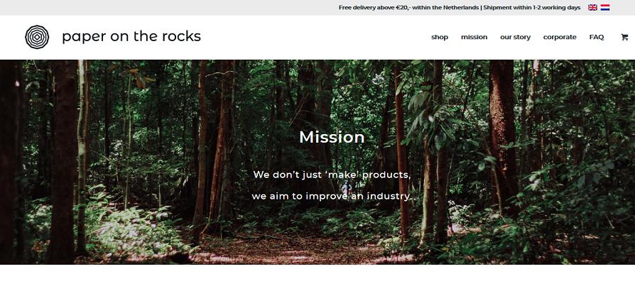 Paper on the rocks, un emprendimiento ecofriendly