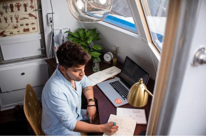 Ambiente laboral para trabajar desde casa