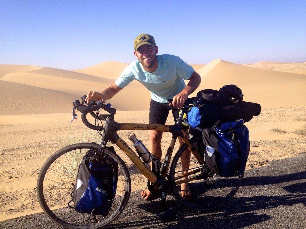 Rob ha recorrido tres veces en bicicleta los Estados Unidos.
