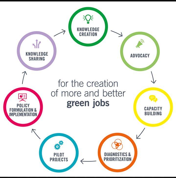 Enfoque holístico del Programa de Empleos Verdes