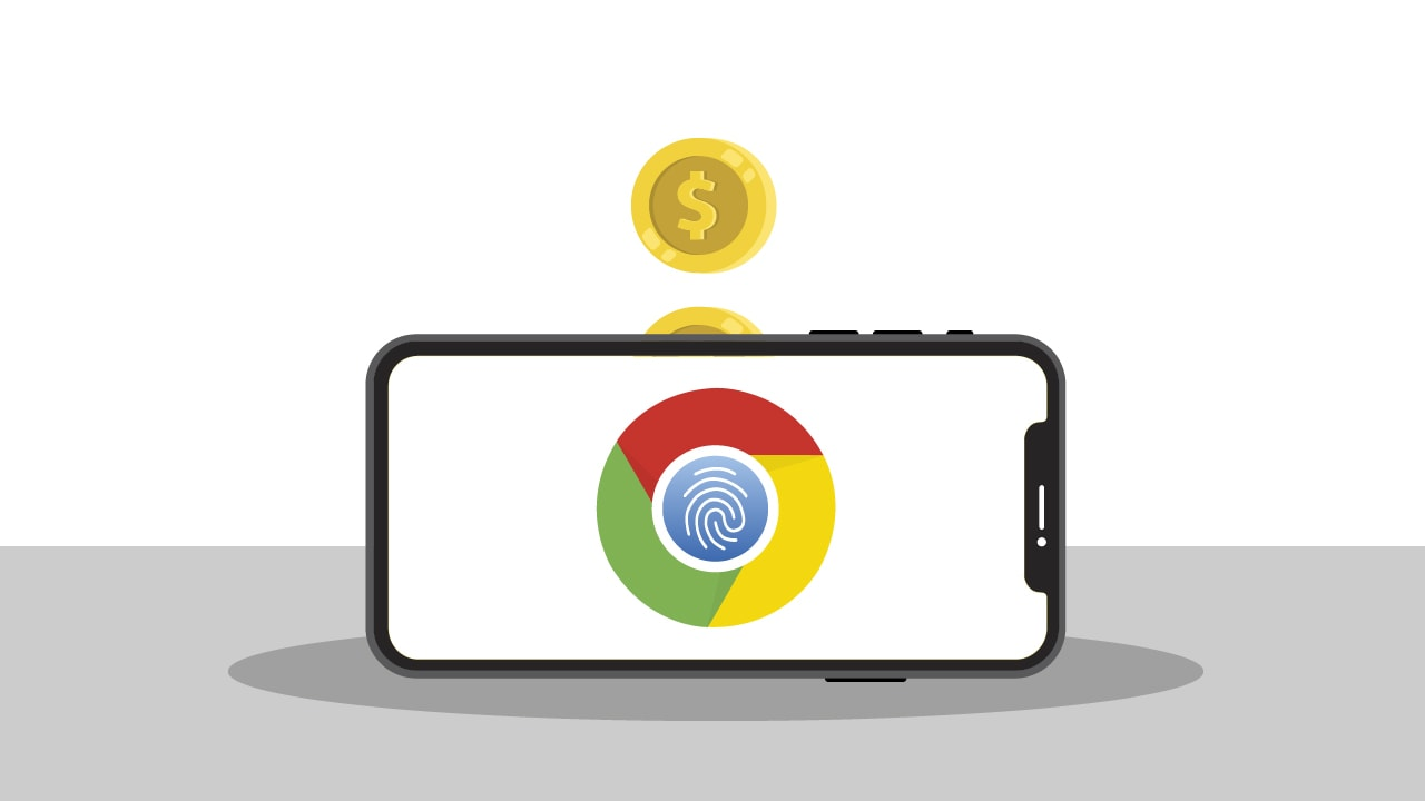 Biometric authentication in Google Chrome